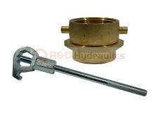 Brass Swivel Adapter Combo 2 12 Nstf X 2 12 Nptf Withhd Hydrant Wrench