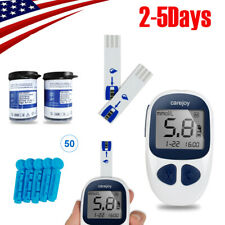 USA Blood Glucose Sugar Meter Monitor Diabetes+50 test strips/50Lancets FDA/CE A