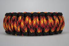 550 Paracord Survival Bracelet King Cobra Black/Red/Fireball Camping Tactical