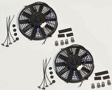 "2 sets of 10"" PULL/PUSH 12V SILM ELECTRIC RADIATOR MOTOR COOLING FAN"