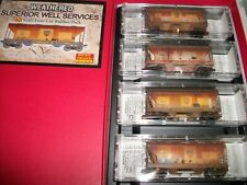 N Scale Weathered Superior Well Services 4 Pack