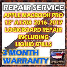 "MACBOOK PRO A1708 13"" 2016 2017  LOGIC BOARD MOTHERBOARD REPAIR & LIQUID SPILL"