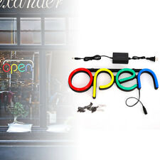 Neon Open Sign Led Light Horizontal Decoration Business Shop Display wall art Us
