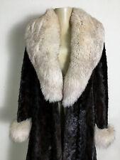 Vintage Genuine Mahogany Mink & Fox  Fur Coat Jacket Womens M STUNNING!