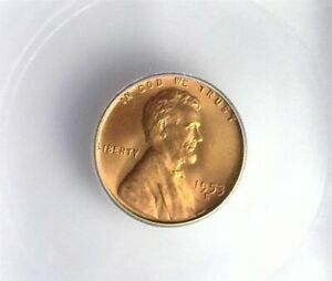 1953-S LINCOLN CENT ICG MS 67 RD LISTS FOR $160!!
