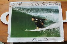 Eric J. South Bay Surfing Chp Surf Signed Autographed Photo 8x11in. Poster