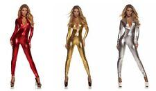 11 Colours Metallic Lycra spandex zentai costume catsuit front zip S-XXL