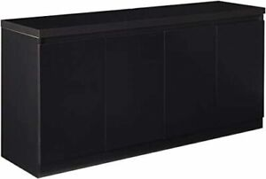 Viennese 62.99 in. 6- Shelf Buffet Cabinet in Black Matte