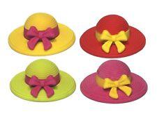 Colorful Hat Rubber Erasers, 12 pcs Miniature Kids & Girls School Puzzle Toys