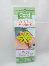 Leisure Arts cord Collections make & share Bracelet Kit Daisy - Makes 2