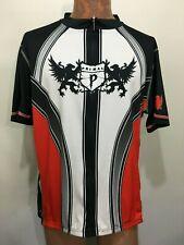 Primal Mens 3XL Bike Cycling Jersey Black Red White Short-Sleeve Full Zip