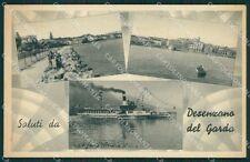 Brescia Desenzano Saluti da Battello cartolina QK7025