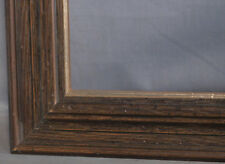 Vintage Modern 1970s Faux Worm Wood Picture Frame 18x24 Distressed Baroque Foil