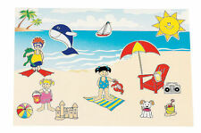 12 Make A BEACH Scene STICKERS LUAU Swimming Pool PARTY FAVORS