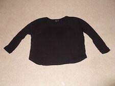 Asos ladies black loose fitting short top - size 8
