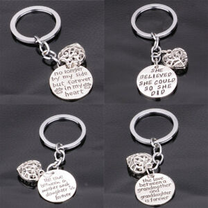 Engraved 'Love Between Mother and Daughter' Pendant Charm Keyring Keychain Gifts