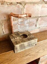 Handmade Wax and Oil Burner / Melter. Rustic Industrial Style Decor. Kilner Jar