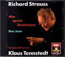 Klaus TENNSTEDT: Richard STRAUSS Also sprach Zarathustra Don Juan CD LPO EMI