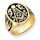 14k Yellow Gold Men's Masonic Ring Y4041M Size 10
