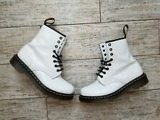 Dr. Martens 1460 SMOOTH WHITE LEATHER Boots US 8 / EU 39