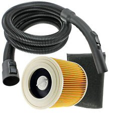 2m Hose + Filters for KARCHER WD3 WD3P WD3.200 WD3.300 WD3.500 WD3.540 WD3.600