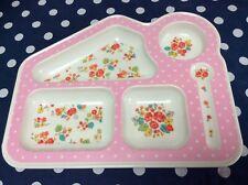 Cath Kidston Kids Pink Vintage Rose Melamine Food Tray Plate