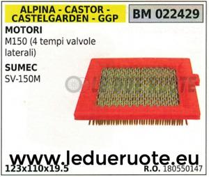 180550147 FILTRO ARIA MOTORE GGP STIGA ALPINA CASTOR M150 4T SUMEC SV-150M