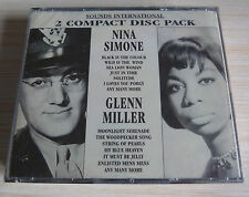 BOX 2 CD SOUNDS INTERNATIONAL NINA SIMONE GLENN MILLER 42 TITRES NEUF