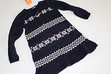 Gymboree Holiday Shop Girls Size 18-24 M Sweater Dress Snowflake Penguin NWT