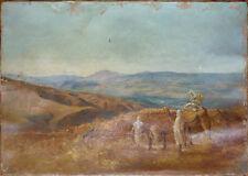 Peinture orientaliste Philippe CHARLEMAGNE (1840-1906) Maroc Atlas A restaurer