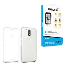 Custodia Cover Trasparente + Vetro Temperato Per Motorola Moto G4 & G4 Plus 2016