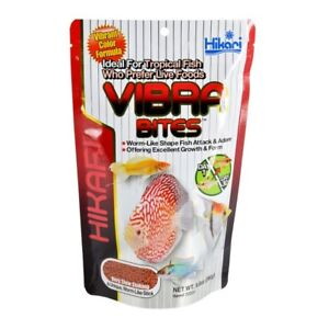 HIKARI VIBRA BITES 9.8 OZ WORM LIKE SHAPED VIBRANT FOOD. TO THE USA
