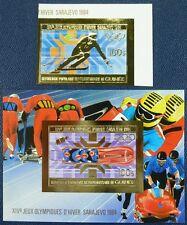 386/SPACE RAUMFAHRT 1983 Guinea Olympics Sarajewo Gold 971 B + Bl.79 B Imperf **