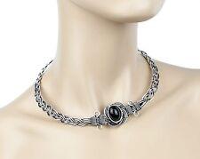 Tribal Wire Black Stone Statement Steampunk Choker Bracelet Punk Goth Victorian