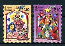 Sri Lanka 2015 MNH Christmas Nativity 2v Set Stamps