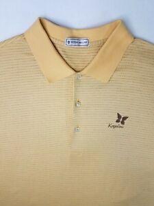 Peter Millar Mens Polo Shirt XL Cotton Yellow Kapulua Maui Golf Short Sleeve