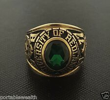 1977 University Of Redlands Class Gents Ring Yellow Gold