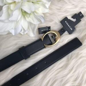 Coach F83960 Signature Buckle Belt 25mm Size S M Black