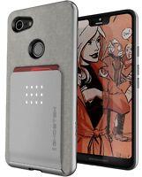 For Google Pixel 3 Magnetic Phone Case | Ghostek EXEC Leather Card Holder Wallet