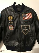 Leather Jacket Top Gun 1986 Bomber Pilot Rare Vintage