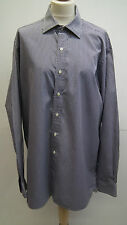 Navy and White Check Formal Shirt from Charlie Tyrwhitt size 16.5