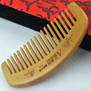 Natural Sandalwood Wide Tooth Comb Wooden Hair Care Health Care Sandal Wood Comb