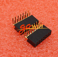 20PCS 2.54mm 2x7Pin Header Right Angle Female Double Row Socket Connector