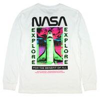 NASA Space Shuttle Discovery Neon Long Sleeve Men's T-Shirt