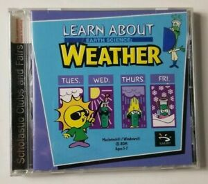 Learn About Earth Science Weather PC MAC CD-ROM (2000 Sunburst)
