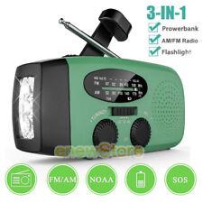 Emergency Solar Hand Crank Dynamo AM/FM/NOAA Weather Radio Flashlight USB Charge