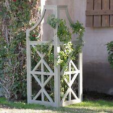 "Rustic Gray Wash Finish 60"" Eucalyptus Wood Garden Trellis Outdoor Gardening"