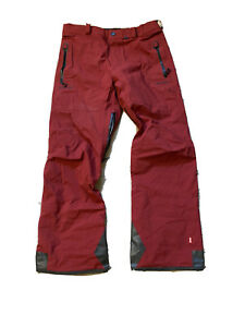 volcom guide Gore-Tex snowboard pants brick red size large