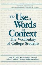 The Use of Words in Context: The Vocabulary of Collage Students-ExLibrary