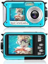 Double Screen Waterproof Camera 24 Megapixels Full HD 1920x1080 Blue
